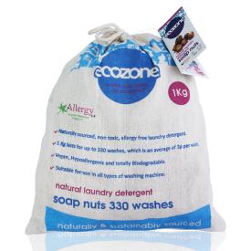 Natūralūs muilo riešutai skalbimui ECOZONE, 330 skalbimų, 1 kg