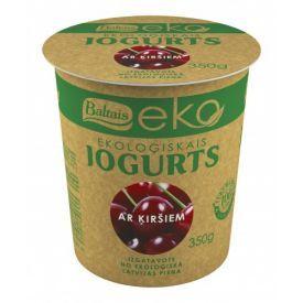 Ekologiškas jogurtas BALTAIS su vyšniomis, 350g