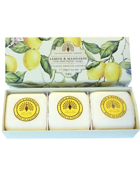 Muilas ENGLISH SOAP Lemon & Mandarin, 3 vnt. po 100 g