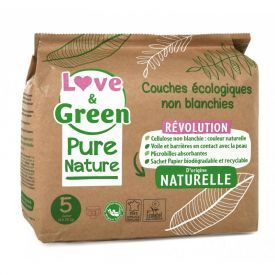 Ekologiškos Love&Green sauskelnės, 5 dydis, 11 - 25 kg, 33 vnt