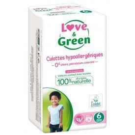 Ekologiškos sauskelnės-kelnaitės LOVE&GREEN, 6 dydžio, 16+ kg, 16 vnt.