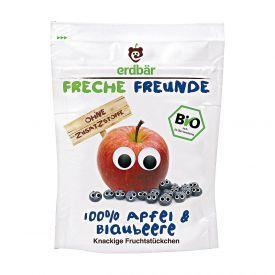Ekologiški obuolių ir mėlynių traškučiai FRECHE FREUNDE, 12 g