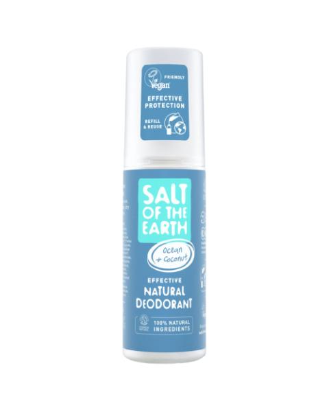 Natūralus purškiamas dezodorantas SALT OF THE EARTH su kokosais ir vandenyno aromatu, 100 ml
