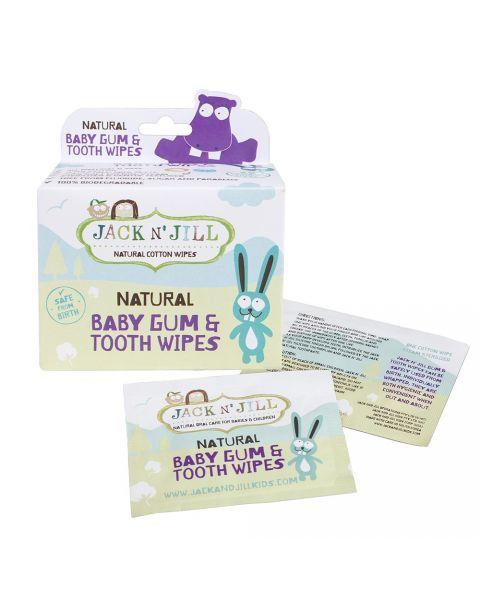 Dantukų ir dantenų servetėlės su ksilitoliu JACK N'JILL, 25 vnt.