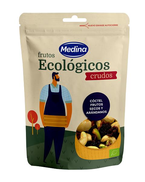 Ekologiškas riešutų ir džiovintų spanguolių mišinys MEDINA, 100g