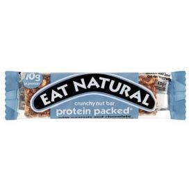 Batonėlis EAT NATURAL su žemės riešutais ir šokoladu, 45 g