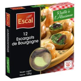Burgundiškos sraigės ESCAL, šaldytos 12 vnt, 125g