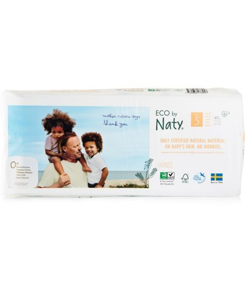 Sauskelnės EKO by NATY 5 Junior Plus 11-25 kg vaikams, 40 vnt.