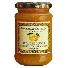 Trijų vaisių marmeladas THURSDAY COTTAGE su sumažintu cukraus kiekiu, 315 g