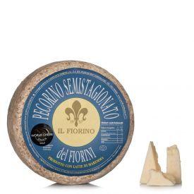 Avių pieno sūris PECORINO SEMISTAGIONATO DEL FIORINI, brand. 45 d., 1kg