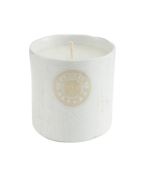 "Namų žvakė CANDELE FIRENZE ""Ceramic Antique White"", 120x120 mm, 70 h, 1 vnt."