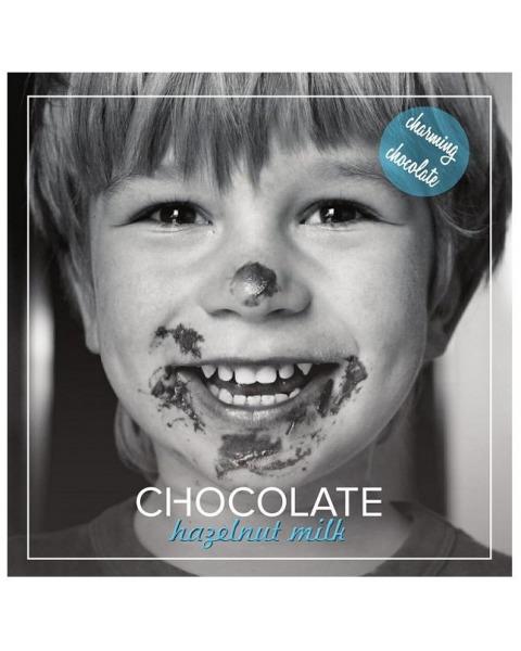 Pieninis šokoladas 41% CHARMING su skrudintų lazdyno riešutų pasta, 60g