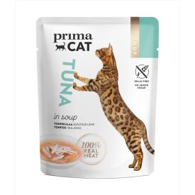Konservuotas kačių maistas PRIMA CAT tunas sriuboje, 40 g