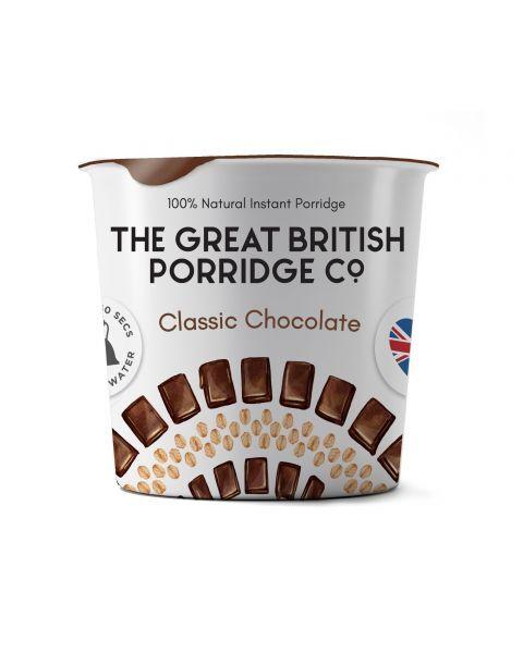 Greito paruošimo avižinė košė THE GREAT BRITISH PORRIDGE su šokoladu indelyje, 60 g