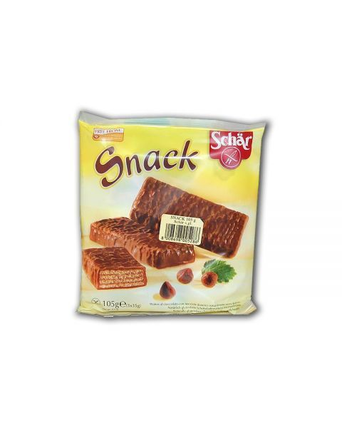 Šokoladiniai vafliai su lazdyno riešutų įdaru SCHAR be gliuteno, 3x35g