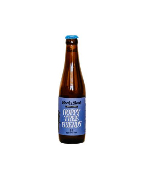 """Alus """"Hoppy Tree Friends"""" BEAR&BOAR Hoppy Lager, 330ml"""