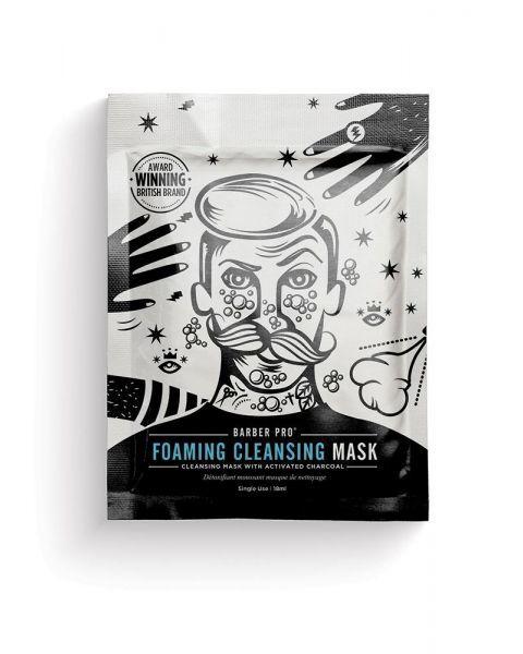 Putojanti veido kaukė vyrams BEAUTY PRO Barber Pro su aktyvinta anglimi, 20 g
