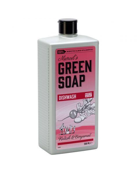 Indų ploviklis MARCELS GREEN SOAP su ridikėliais ir bergamotėmis, 500 ml