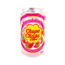Gazuotas gėrimas CHUPA CHUPS braškių skonio, 345 ml