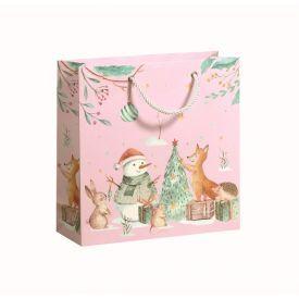 Dovanų maišelis ZOEWIE Winter Wonderland (22x8x22 cm), 1 vnt.
