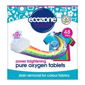 Skalbimo tabletės ECOZONE su deguonimi spalvotiems audiniams, 48 vnt.