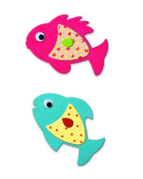 Kūrybinis lipdukų rinkinys DJECO I Love Fishes (DJ09052) 2
