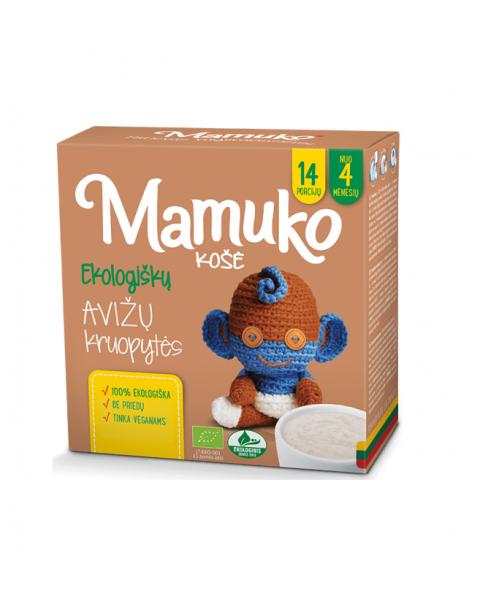 Ekologiškų avižų kruopytės košei MAMUKO vaikams nuo 4 mėn., 240 g