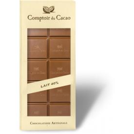 Pieninis šokoladas 40% COMPTOIR du CACAO, be cukraus, 80 g