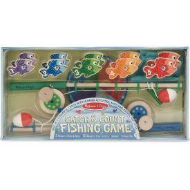 """Skaičiavimo žaidimas su meškere MELISSA & DOUG, """"Catch & Count Fishing"""" 1 vnt."""