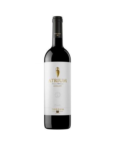 Raudonas sausas vynas Torres Atrium Merlot Penedes D.O. 13,5%, 750ml
