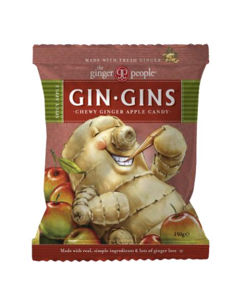 Kramtomieji imbieriniai obuolių skonio saldainiai GINGER PEOPLE, 150 g