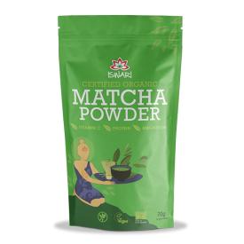 Ekologiški žaliosios arbatos Matcha milteliai ISWARI, 70g