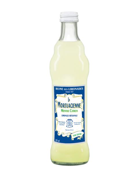 Gazuotas gaivusis gėrimas LA MORTUACIENNE, mėtų ir citrinų skonio,0,33L