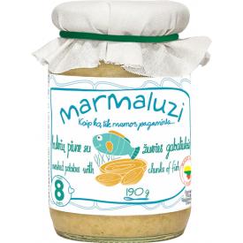 Bulvių piurė su žuvies gabaliukais MARMALUZI vaikams nuo 8 mėn., 190 g