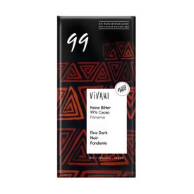 Ekologiškas juodasis 99% šokoladas VIVANI su kokosų žiedų cukrumi, 80 g