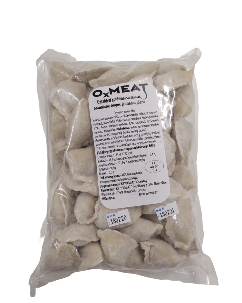 Užšaldyti koldūnai su sausai brandintos Black Angus jautienos įdaru OXMEAT, 1 kg