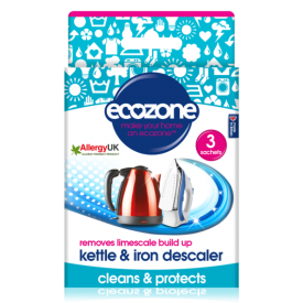 Virdulių ir lygintuvų nukalkinimo priemonė ECOZONE, 3 vnt.
