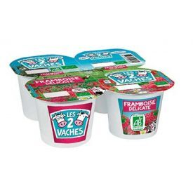 Ekologiški jogurtai su avietėmis LES2VACHES, 4x115g