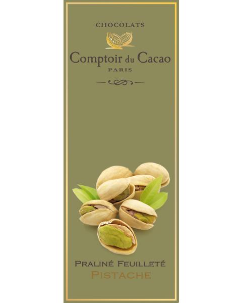 Šokoladas COMPTOIR du CACAO, su pistacijų riešutų įdaru, 80 g