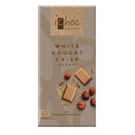 Ekologiškas veganiškas šokoladas ICHOC su nugos traškučiais, 80 g