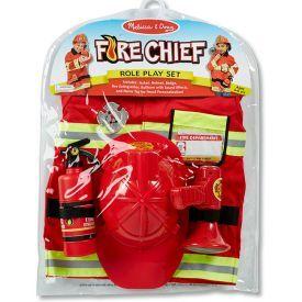 """Gaisrininko kostiumas rolių žaidimams MELISSA & DOUG """"Fire Chief"""", 1 vnt."""