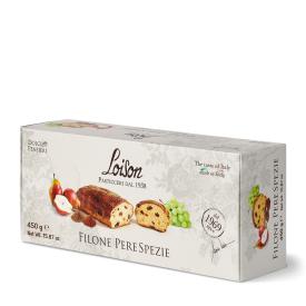 Itališkas pyragas Filone LOISON su razinomis ir kriaušėmis, 450 g