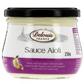 """Prancūziškas majonezas DELOUIS su česnaku """"Aioli"""", 250 g"""