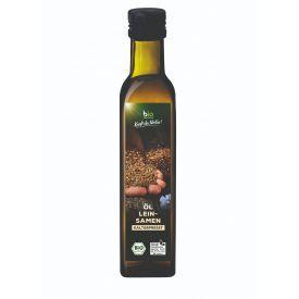 Ekologiškas šalto spaudimo linų sėmenų aliejus BIOZENTRALE, 250 ml