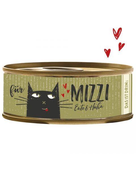 Konservai katėms BUBECK Mizzi su antiena ir vištiena, 100 g
