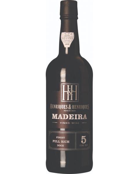 Raudonas vynas HENRIQUES&HENRIQUES 5yr MADEIRA 19%, 750 ml, saldus