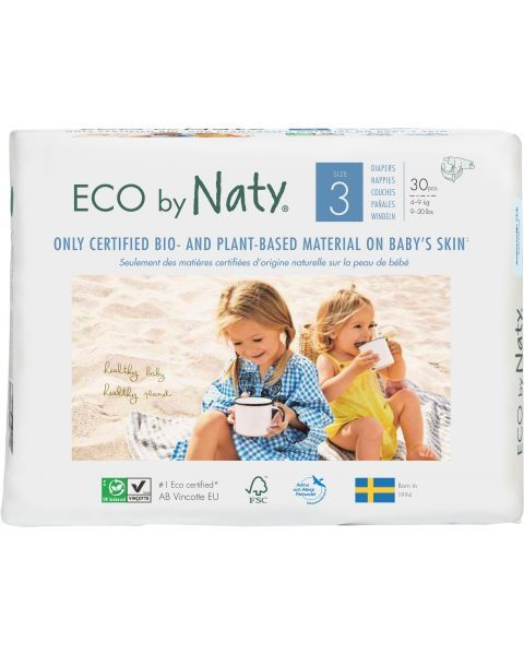 Sauskelnės EKO by NATY 3 Midi 4-9 kg kūdikiams, 30 vnt.
