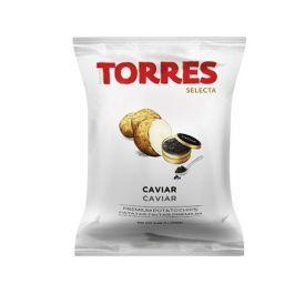 Bulvių traškučiai TORRES su juodaisiais ikrais, 110g
