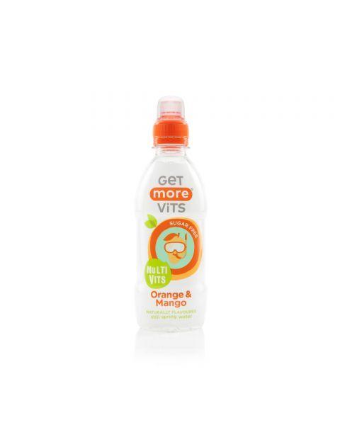 Negazuotas vitaminų gėrimas vaikams GET MORE Multivitamins Orange & Mango, 330ml