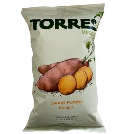 Saldžių bulvių traškučiai TORRES Veggie Boniato, 90g